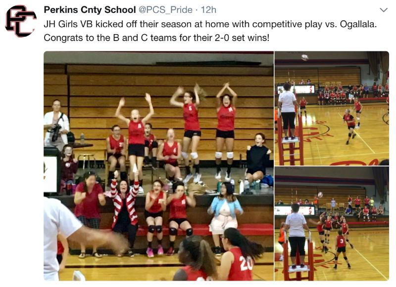 perkins county schools jr volleyball kickstarts their season08 2017 #13